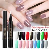 Nail Varnish Pen Glitter Nail Gel Nail Polish One Step 24Colors UV Led Lamp Use