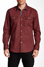 Robert Graham Halifax Red Long Sleeve Woven Tailored Fit Shirt Size L NWT $188