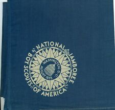 1935 Boy Scout National Jamboree FULL SQUARE Blue Neckerchief