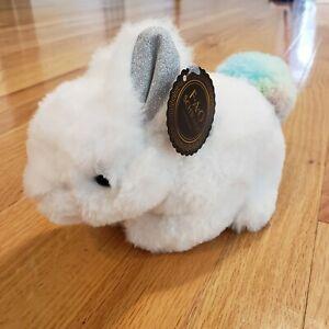 FAO Schwarz Toy Plush 9 In Bunny Pom Pom- White