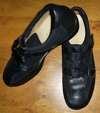 Kumfs Arch Support Orthotic Shoes 638181 Womens 42 Black Leather Suede Velcro
