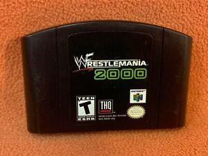 WWF Wrestlemania 2000 Nintendo 64 N64 Original Authentic Retro Classic Game!