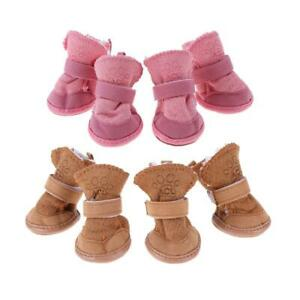 Pet Puppy Thick Snow Boots Dog Plush Winter Warm Shoes Dog Accessories ③