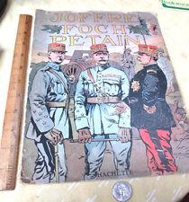 JOFFRE; FOCH; PETAIN,1918,Illustrated