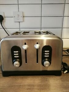 Sainsburys Home 4 Slice Toaster Silver