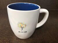 Rae Dunn Magenta Jul 4 2018 4th of July Sparklers Off White Blue Coffee Mug