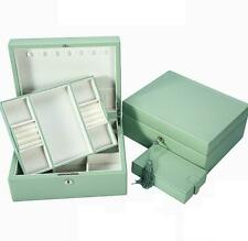 Cerradura de correa de cuero genuino cuero Europeo De Madera Caja de Joyería Caja de joyería