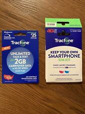 Tracfone At&T Or Unlocked Sim Card And $25 Unlimited Talk Text & 2 Gb Data Plan