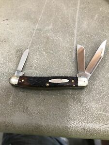 Nice Vintage Olsen OK Knife Co. 3 Blade Stockman #103 H.C. Michigan