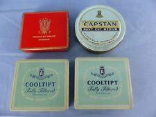 Lot de 4 boites métal cigarettes CAPSTAN COOLTIPT PRINCE OF WALES SEITA WW2