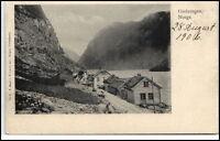 Norge Norway Norwegen Brevkort ~1906 GUDVANGEN Vintage Postcard Street View