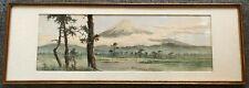 ANTIQUE JAPANESE LIST ARTIST 'KAHO (19TH C.)' ORIGINAL WATERCOLOR ON PAPER. 1906