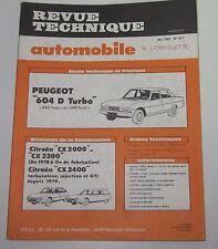 Revue technique automobile RTA 411 Peugeot 604 D turbo GRD & SRD turbo