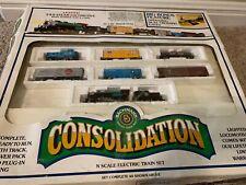 Bachmann N Scale Consolidation RTR Train Set 2-8-0