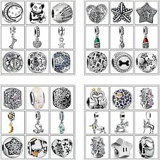 Fine Charms European Beads Woman Jewelry Fit Fashion 925 Silver Bracelets Chain