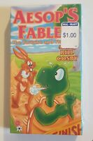 NEW UAV VHS Aesop's Fables The Tortoise And The Hare 1994 Bill Cosby SEALED HTF