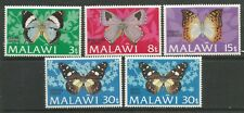 STAMPS-MALAWI. 1973. Butterflies Set, 30t with Corrected Inscription. SG: 429/33