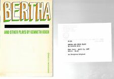 Bertha And Other Plays by Kenneth Koch INSCRIBED 1ST ED REVIEW COPY 1966