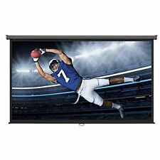 """Projector Screen Home Theater 100"""" 16:9 Cinema Sport Movies Pull Down Roll Great"""