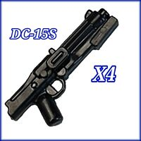 Custom Star Wars DC-15S (×4) Blaster Rifles for Lego minifigures