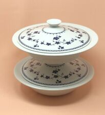 New ListingTwo (2) Royal Doulton Yorktown covered casserole W/lid - Blue White grapevine