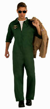 Men's Green Aviator Pilot Jumpsuit Adult Costume