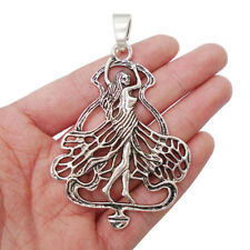 2 x Tibetan Silver Large Fairy Charms Pendants for Necklace Jewellery Making