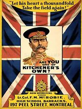 PROPAGANDA WAR WWI CANADA KITCHENER FLAG ENLIST ART POSTER PRINT PICTURE LV7179