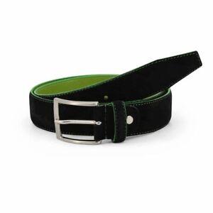 Sparco Derby Black Belt in Suede