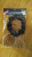 Black Fluffy Halo Angel Headband Fancy Dress