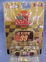 1999 Racing Champions Nascar Gold Chrome Commemorative  EXIDE 99 JEFF BURTON