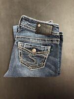 Silver Jeans Suki Mid Slim Boot Denim Jeans Women's Size W26 L33