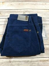 7 For All Mankind Boys Standard Straight Leg Navy Blue Corduroy Pants 14x30  A4
