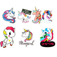 7Pcs Cute Unicorn Stickers For Laptop Skateboard Luggage Car Bicycle Waterproof