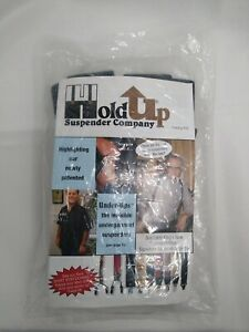 """Shadow Black 2"""" Wide 54"""" Long Heavy Duty Suspender With Patented No-Slip Clips"""