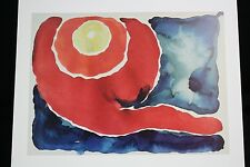 Georgia O'Keeffe Art Print Evening Star No V A.Colish 16x12 Book Print 1976 RARE