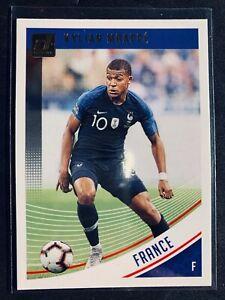 2018-19 Panini Donruss Kylian Mbappe France soccer card