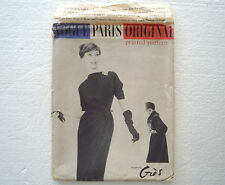 1957 GRES Vogue Paris Original Pattern Vtg Dress & Coat Size 14 / 34 Bust 36 Hip