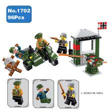 Enlighten 1702 Military Battlefield Army Motorcycle Soldier Building Blocks Toy