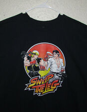 Sweep The Leg Street Fighter Karate Kid Mashup Novelty Shirt Men 2XL XXL Navy