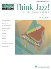 Think Jazz! A Jazz Piano Method - Early Intermediate Level - Piano Music Book