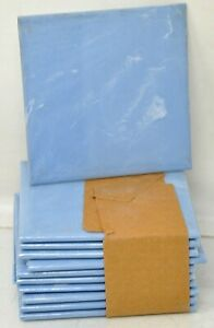 """Lot of 20 Vintage NEW Plastic Wall Tile Pale Blue Marble Shur Seal 4.25""""x4 .25"""""""