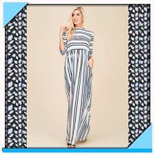 Knit Empire Striped Maxi Dress, NWT, Size Small