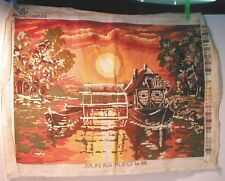 Needlepoint Mill on the River Complete 20X14 Thread Factory Zagreb Mlin Bosnian