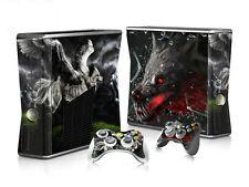 Xbox 360 slim skin Design volets Autocollant Film de protection set-wolf motif