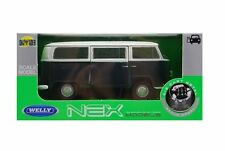 1972 VW VOLKSWAGEN BUS T2 WHITE-GREEN 1:34-1:39 WELLY METAL CAR NIB