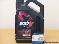 Motul Öl  300V 4T 10W40 / Mahle Ölfilter Suzuki GSX-R1000 Bj 01 - 16
