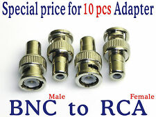 Wholesale x10 BNC / RCA Adapter Connector for CCTV DVR Security Camera Cable RC