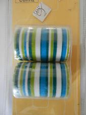 2 Embouts résine Confiz Ø20 mm Rayé bleu/vert/blanc Colours CL 18