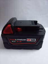18V 5.0Ah Li-ion Battery For Milwaukee M18 M18B 48-11-1820 48-11-185048-11-1828